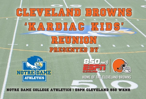 "55ee7fcb Cleveland Browns ""Kardiac Kids"" Reunion - Notre Dame College Athletics"